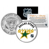 DALLAS STARS NHL Hockey JFK Kennedy Half Dollar U.S. Coin - Officially Licensed