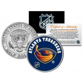 ATLANTA THRASHERS NHL Hockey JFK Kennedy Half Dollar U.S. Coin - Officially Licensed