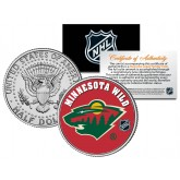 MINNESOTA WILD NHL Hockey JFK Kennedy Half Dollar U.S. Coin - Officially Licensed