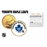 TORONTO MAPLE LEAFS NHL Hockey 24K Gold Plated Canadian Quarter Colorized Coin - Officially Licensed