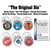 THE ORIGINAL SIX Teams NHL Colorized Canada & U.S. Quarters 6-Coin Set - Officially Licensed