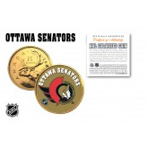 OTTAWA SENATORS NHL Hockey 24K Gold Plated Canadian Quarter Colorized Coin - Officially Licensed