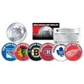 THE ORIGINAL SIX Teams NHL Royal Canadian Mint Medallions 6-Coin Set - Officially Licensed