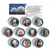 NOBEL PEACE PRIZE - Colorized JFK Half Dollar U.S. 10-Coin Set