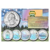 2010 America The Beautiful HOLOGRAM Quarters U.S. Parks 5-Coin Set with Capsules