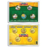 YANKEES CAPTAINS Statehood New York Quarters 5-Coin Set 24K Gold Plated - JETER MUNSON GEHRIG MATTINGLY