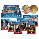 BARACK OBAMA Complete 50-Card Set plus 44-Card Set with 24K Gold Plated Coin
