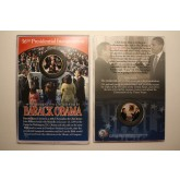 BARACK OBAMA - 2009 INAUGURATION - 24K Gold Plated JFK Half Dollar U.S. Coin with 4x6 Display