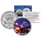 OCTOPUS JFK Kennedy Half Dollar US Colorized Coin