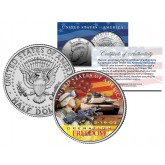 IRAQ WAR OPERATION FREEDOM - March 19, 2003 - JFK Kennedy Half Dollar U.S. Coin Military