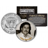 PABLO ESCOBAR - El Patron Del Mal - Gangsters JFK Kennedy Half Dollar US Colorized Coin