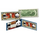 LUCKY PANDA Genuine Legal Tender $2 Bill U.S. Lucky Money with Folio & COA