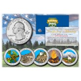 2012 America The Beautiful COLORIZED Quarters U.S. Parks 5-Coin Set with Capsules