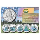 2012 America The Beautiful HOLOGRAM Quarters U.S. Parks 5-Coin Set with Capsules