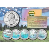 2017 America The Beautiful HOLOGRAM Quarters U.S. Parks 5-Coin Set with Capsules