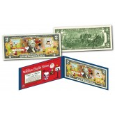 PEANUTS * BE MY VALENTINE, CHARLIE BROWN * Officially Licensed Colorized U.S. Genuine Legal Tender U.S. $2 Bill with Certificate & Display Folio