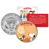 "Peanuts VALENTINE'S "" Charlie Brown & Snoopy "" JFK Half Dollar US Coin - Officially Licensed"