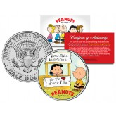 "Peanuts VALENTINE'S "" Charlie Brown & Lucy "" JFK Half Dollar US Coin - Officially Licensed"