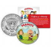 "Peanuts VALENTINE'S "" Charlie Brown & Peppermint Patty "" JFK Half Dollar US Coin - Officially Licensed"