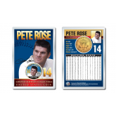 PETE ROSE Baseball Legends JFK Kennedy Half Dollar 24K Gold Plated US Coin Displayed with 4x6 Display Card