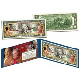 SAINTS - Pope John XXIII & Pope John Paul II DOUBLE CANONIZATION Legal Tender U.S. $2 Bill