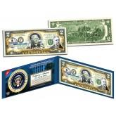 CHESTER A ARTHUR * 21st U.S. President * Colorized Presidential $2 Bill U.S. Genuine Legal Tender