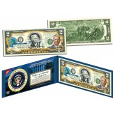 DWIGHT D EISENHOWER Ike * 34th U.S. President * Colorized Presidential $2 Bill U.S. Genuine Legal Tender
