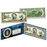 HERBERT HOOVER * 31st U.S. President * Colorized Presidential $2 Bill U.S. Genuine Legal Tender