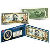 HARRY S TRUMAN * 33rd U.S. President * Colorized Presidential $2 Bill U.S. Genuine Legal Tender