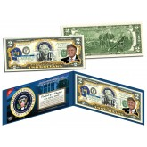 DONALD TRUMP * Presidential Series #45 * Colorized Presidential $2 Bill U.S. Genuine Legal Tender