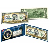 GEORGE WASHINGTON * 1st U.S. President * Colorized Presidential $2 Bill U.S. Genuine Legal Tender