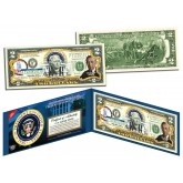 WOODROW WILSON * 28th U.S. President * Colorized Presidential $2 Bill U.S. Genuine Legal Tender