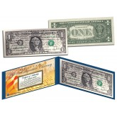 ALL 44 U.S. PRESIDENT SIGNATURES Genuine Legal Tender US $1 Bill - World's First