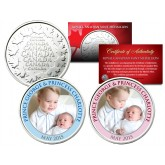 PRINCE GEORGE & PRINCESS CHARLOTTE Set of 2 Royal Canadian Mint Medallion Coins