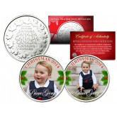 PRINCE GEORGE - 2014 CHRISTMAS - Set of 2 Royal Canadian Mint Medallion Coins