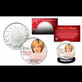 PRINCESS DIANA 1997-2017 20th ANNIVERSARY Royal Canadian Mint Medallion Portrait Coin