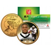 REGGIE BUSH Colorized Louisiana Statehood US Quarter 24K Gold Plated Coin ROOKIE - Officially Licensed