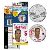 ALBERT PUJOLS St Louis Cardinals Official Missouri Statehood U.S. Quarter Coin in Promotional Rare Unopened Sealed Packaging