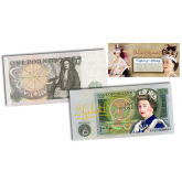 *MUST SEE* - QUEEN ELIZABETH II Colorized BANK OF ENGLAND One Pound Note (Extremely Rare & Limited)