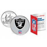 OAKLAND RAIDERS NFL California US Statehood Quarter Colorized Coin  - Officially Licensed