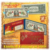 24KT GOLD 2020 Chinese New Year - YEAR OF THE RAT - Legal Tender U.S. $1 BILL * Limited & Numbered of 888