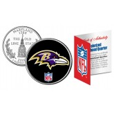 BALTIMORE RAVENS NFL Maryland US Statehood Quarter Colorized Coin  - Officially Licensed