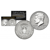 2016 JFK Kennedy Half Dollar U.S. Coin Uncirculated with Reverse Mirrored Imaging & Frosting Technology – SILVER EDITION * D MINT *