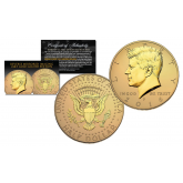 2016 JFK Kennedy Half Dollar U.S. Coin Uncirculated with Reverse Mirrored Imaging & Frosting Technology – 24KT GOLD EDITION * P MINT *