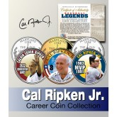 Baseball Legend CAL RIPKEN JR Maryland Statehood Quarters US Colorized 3-Coin Set - Officially Licensed