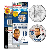 ALEX RODRIGUEZ NY Yankees Official New York Statehood U.S. Quarter Coin in Promotional Rare Unopened Sealed Packaging