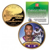 ADRIAN PETERSON Colorized Minnesota Statehood Quarter 24K Gold Plated Coin VIKINGS - Officially Licensed