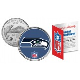 SEATTLE SEAHAWKS NFL Washington US Statehood Quarter Colorized Coin  - Officially Licensed