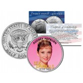 AUDREY HEPBURN - Sex Symbol of the 1960s - Colorized JFK Kennedy Half Dollar U.S. Coin