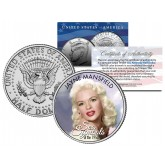 JAYNE MANSFIELD - Sex Symbol of the 1950s - Colorized JFK Kennedy Half Dollar U.S. Coin